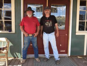 New Door leading to the saloon. Built by Larry and David Hight